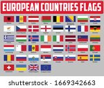 europe countries national flags.... | Shutterstock .eps vector #1669342663