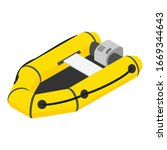 inflatable motor boat icon.... | Shutterstock .eps vector #1669344643