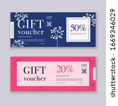 voucher template with color... | Shutterstock .eps vector #1669346029