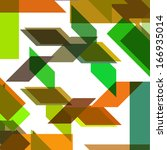 abstract geometric shape  color ... | Shutterstock .eps vector #166935014