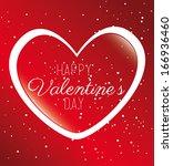 love design over red  ... | Shutterstock .eps vector #166936460