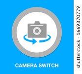 camera switch vector icon....