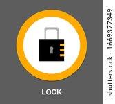lock symbol icon. simple...