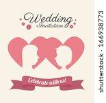 love design over  pink ... | Shutterstock .eps vector #166938773