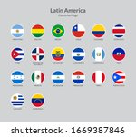 latin american countries flag... | Shutterstock .eps vector #1669387846