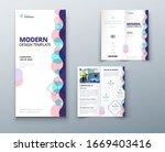 bi fold brochure design with... | Shutterstock .eps vector #1669403416