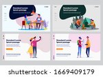 dating couple set. young man... | Shutterstock .eps vector #1669409179