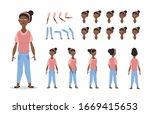 african american girl character ... | Shutterstock .eps vector #1669415653