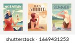 retro design summer holiday and ... | Shutterstock .eps vector #1669431253