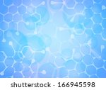 abstract molecules medical... | Shutterstock .eps vector #166945598