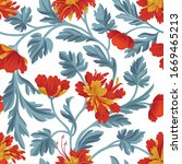 floral pattern. flower seamless ...   Shutterstock .eps vector #1669465213