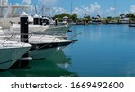 Expensive Boats Moored At A...
