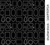 seamless doodle frame set ... | Shutterstock .eps vector #166950914
