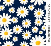 daisy seamless pattern on dark... | Shutterstock .eps vector #1669514710