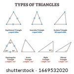 types of triangles vector... | Shutterstock .eps vector #1669532020