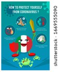 coronavirus precaution tips... | Shutterstock .eps vector #1669555090