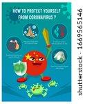 stop corona virus precaution... | Shutterstock .eps vector #1669565146
