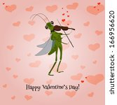 vector valentines with... | Shutterstock .eps vector #166956620