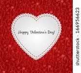 vector valentines card with... | Shutterstock .eps vector #166956623