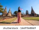 Asian Woman Wearing Thai...