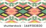 ikat geometric folklore...   Shutterstock .eps vector #1669583830