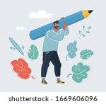 vector cartoon illustration of... | Shutterstock .eps vector #1669606096