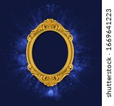 glow vintage picture frame on... | Shutterstock .eps vector #1669641223
