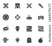 Video Gaming Vector Icons Set ...