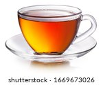 Glass Cup With Black Tea...