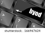 byod keyboard key of a notebook ... | Shutterstock . vector #166967624