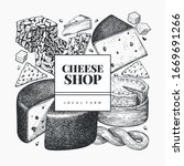 Cheese Design Template. Hand...