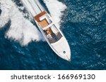 motor boat  rio yachts italian... | Shutterstock . vector #166969130