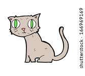 cartoon cat | Shutterstock .eps vector #166969169