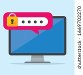 secure flat icon illustration...   Shutterstock .eps vector #1669702270