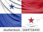 realistic flag of panama on the ... | Shutterstock . vector #1669716433