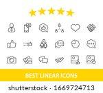 set of social networks related... | Shutterstock .eps vector #1669724713