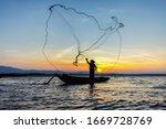 Fishermen Casting Fishing Early ...