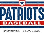 distressed patriots baseball...   Shutterstock .eps vector #1669732603