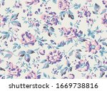vintage style floral seamless... | Shutterstock .eps vector #1669738816