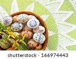 painted easter eggs | Shutterstock . vector #166974443