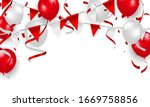 red balloons  confetti concept...   Shutterstock .eps vector #1669758856