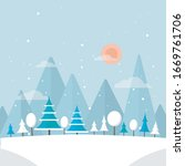 winter forest illustration.... | Shutterstock .eps vector #1669761706