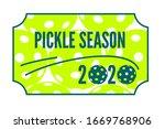 pickleball season  paddle sport ... | Shutterstock .eps vector #1669768906