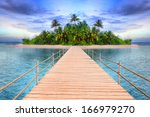 Pier To The Tropical Island Of...