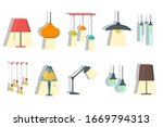 a set of lamps on a white...   Shutterstock .eps vector #1669794313