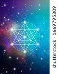 merkaba sacred geometry... | Shutterstock .eps vector #1669795309