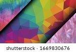 geometric design. colorful... | Shutterstock .eps vector #1669830676