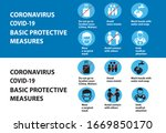 coronavirus covid 19 prevention ... | Shutterstock .eps vector #1669850170