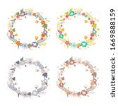 set of colorful. round cute...   Shutterstock .eps vector #1669888159