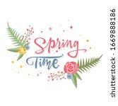 beautiful floral inscription...   Shutterstock .eps vector #1669888186